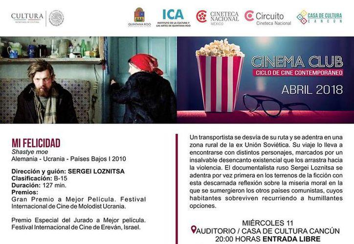La proyección de las películas será en el auditorio de la Casa de la Cultura. (Faride Cetina/SIPSE)