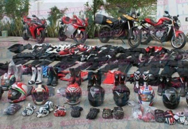 Se trata de cuatro motocicletas modelos Honda R600, BMW F800 y dos Ducati modelo Monster y MB Agusta, todas valuadas en 841 mil pesos. (Informador.com.mx)