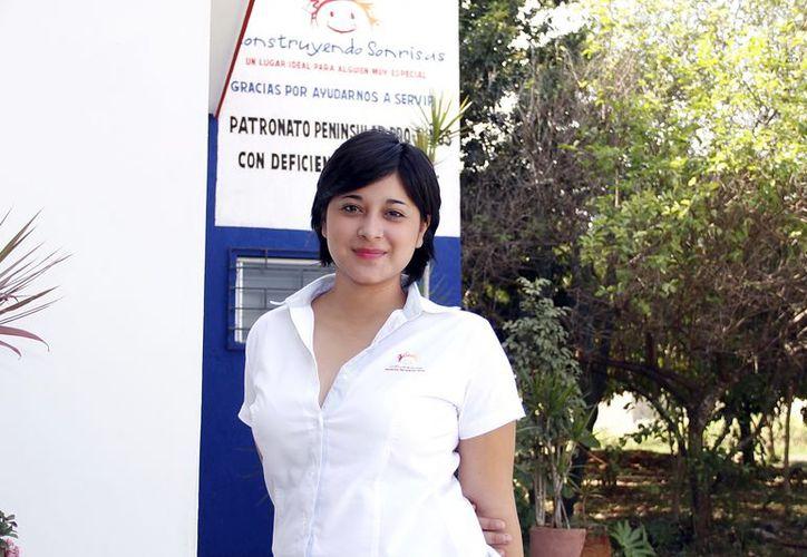 Deysi Ortega Marrufo, responable de promoción de la asociación. (Juan Carlos Albornoz/SIPSE)