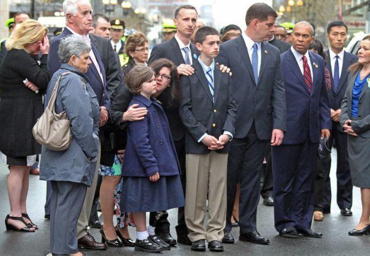 En Boston los familiares de las víctimas mortales asistieron a la ceremonia. (Agencias)
