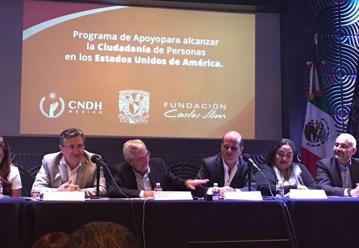 Este miércoles se reunieron en San Antonio, Texas integrantes de la Fundación Carlos Slim, Comisión de Derechos Humanos y la Universidad Autónoma de México en apoyo a Dreamers. (SIPSE)