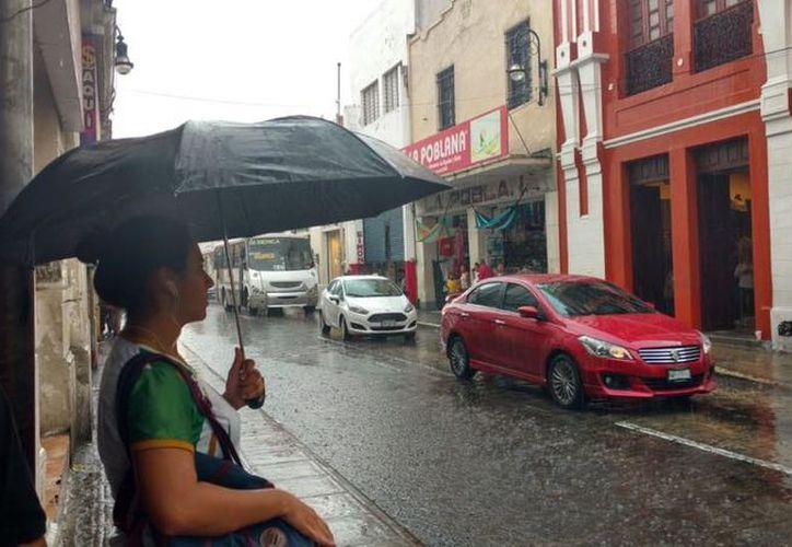Ayer, la lluvia sorprendió a gran parte del Estado, mientras que la temperatura máxima alcanzó los 35.4 grados Celsius. (SIPSE)