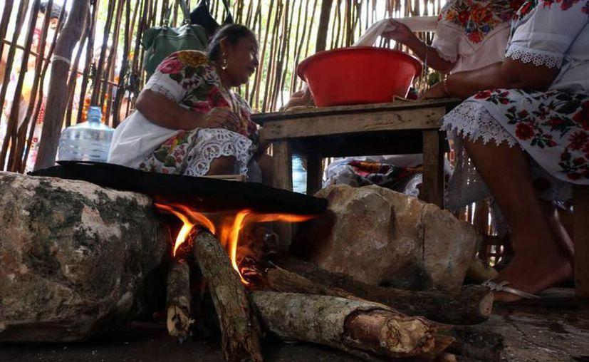 El sector salud invita a la población en la zona rural a usar en menor medida la leña para cocinar, pues origina daños irreversibles en el aparato respiratorio. (Joel Zamora/SIPSE)