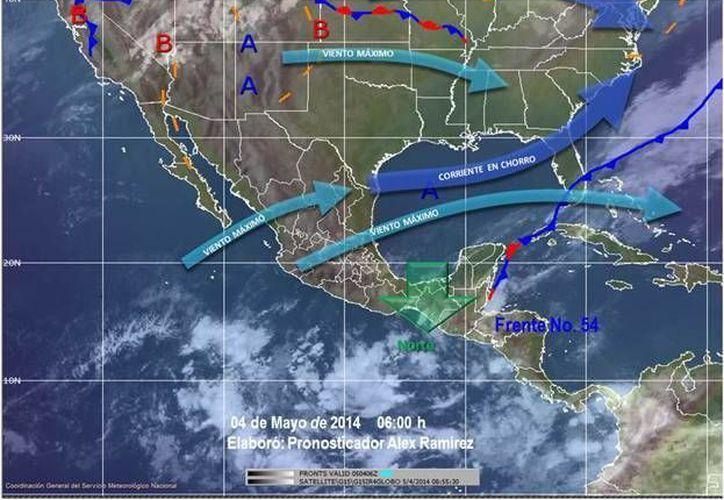 El frente frío No. 54 ocasionará fuertes lluvias en Quintana Roo. (Redacción/SIPSE)