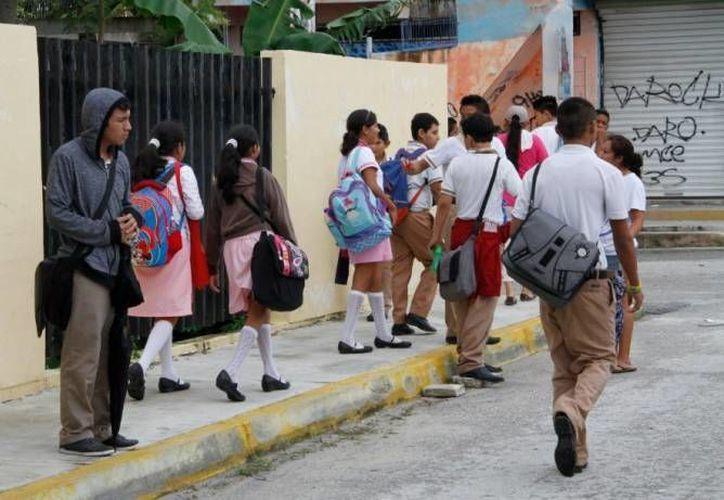 El operativo mochila no es una medida que se pueda aplicar en las escuelas del municipio. (Archivo/SIPSE)