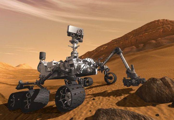 Foto del explorador Curiosity que llegó a Marte hace un año, con la misión de investigar acerca de los secretos de Marte. (Notimex)