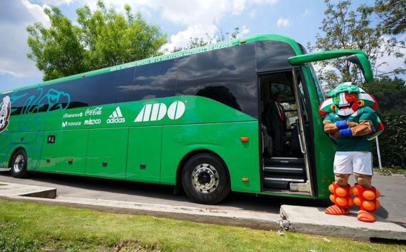 Presentan el autobús oficial de la Selección Mexicana de Futbol