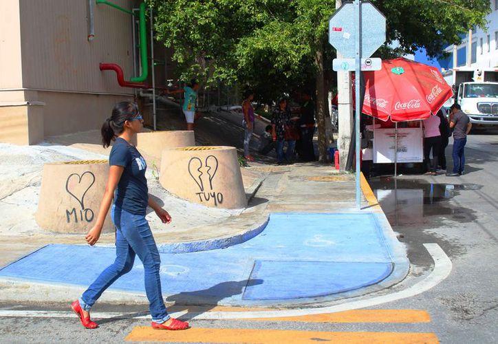 Señalan que las rampas no cuentan con las normas internacionales de movilidad. (Daniel Pacheco/SIPSE)