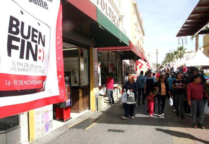 Desde la tarde del sábado, comerciantes de la frontera reportaron un aumento importante en las ventas, por el Buen Fin. (Notimex/Archivo)
