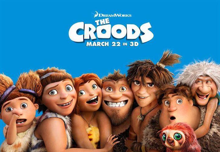 Eiza González y Alfonso Herrera se divirtieron haciendo la versión mexicana de 'The Croods'.  (thecroodsmovie.com)