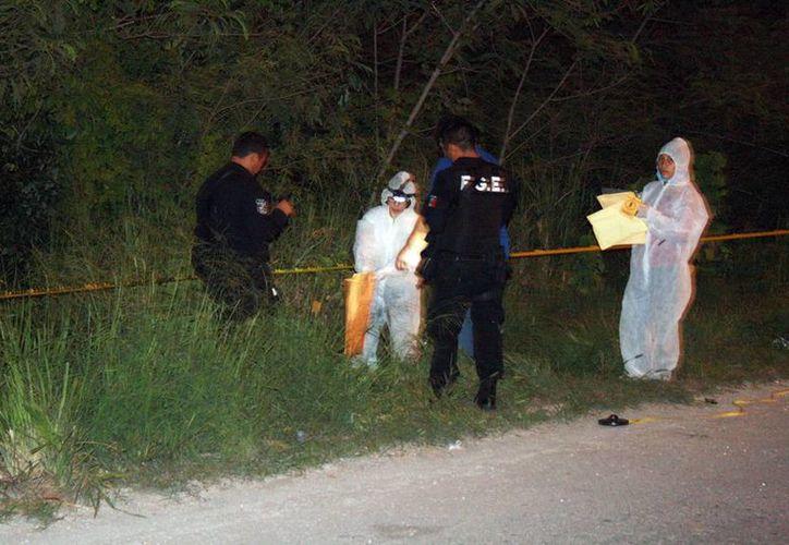 Personal del Semefo inició las investigaciones en la zona donde se encontraron dos cadáveres en el sur de la ciudad. (Milenio Novedades)