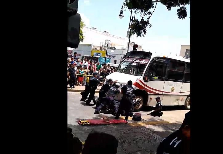 El peatón atropellado fue trasladado al hospital  O'Horán.  (Foto: Captura de pantalla Facebook)