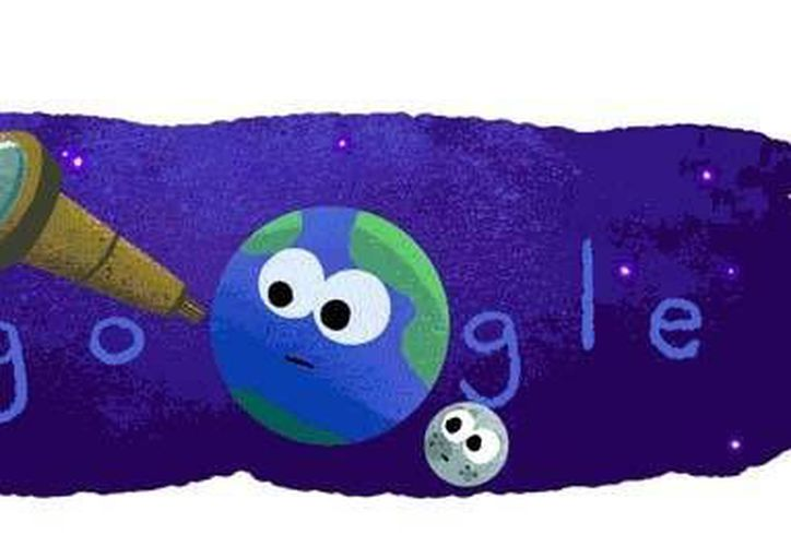 Google publicó el doodle del día, referente al descubrimiento de los 7 nuevos exoplanetas, los cuales fueron descubierto hace unos días por la NASA.(Captura de pantalla/Google)