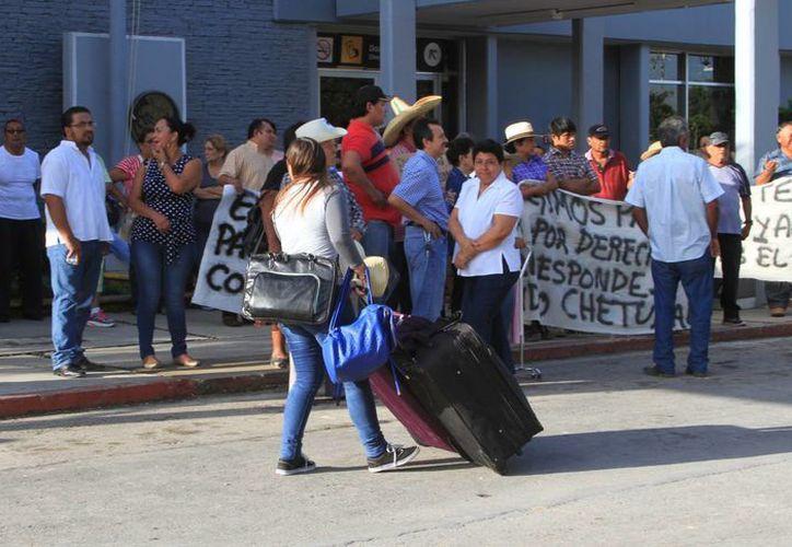 Un total de 111 ejidatarios exigen la indemnización de sus tierras. (Ángel Castilla/SIPSE)