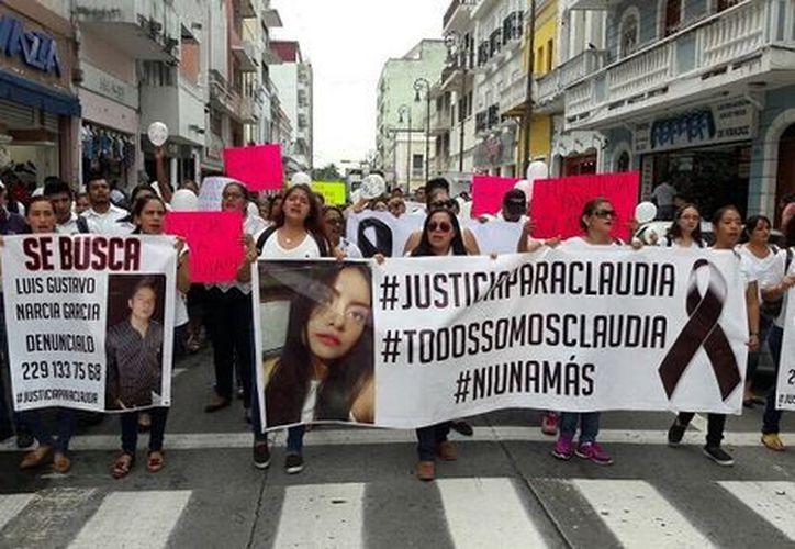 La familia de Claudia, quien presuntamente fue asesinada por su ex novio, pide justicia. (Foto: Milenio)