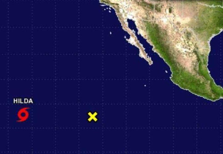 Se espera que la tormenta tropical Hilda cobre fuerza en los próximos días. (Centro Nacional de Huracanes de EU)