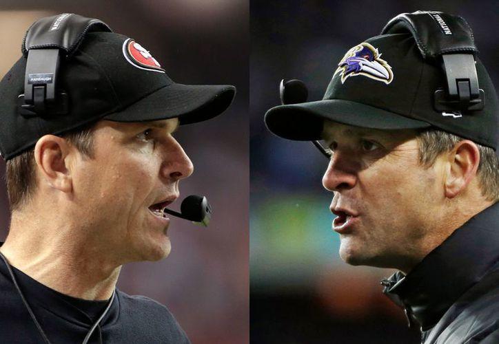 Los equipos de Jim (i) y John Harbaugh ya se enfrentaron en un partido de temporada regular. Entonces los Ravens vencieron 16-6. (Agencias)