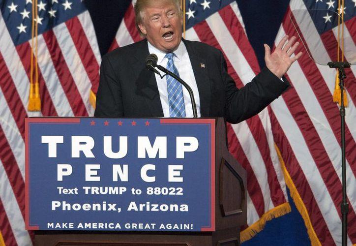 Donald Trump afirmó que no tiene ninguna intención de renunciar a su lucha por la Presidencia de Estados Unidos. (Archivo/EFE)