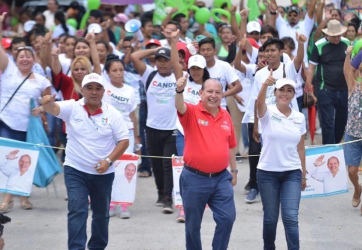 El candidato a la Coalición Por Quintana Roo, Mario Machuca, duró dos semanas en campaña. (Foto: SIPSE)