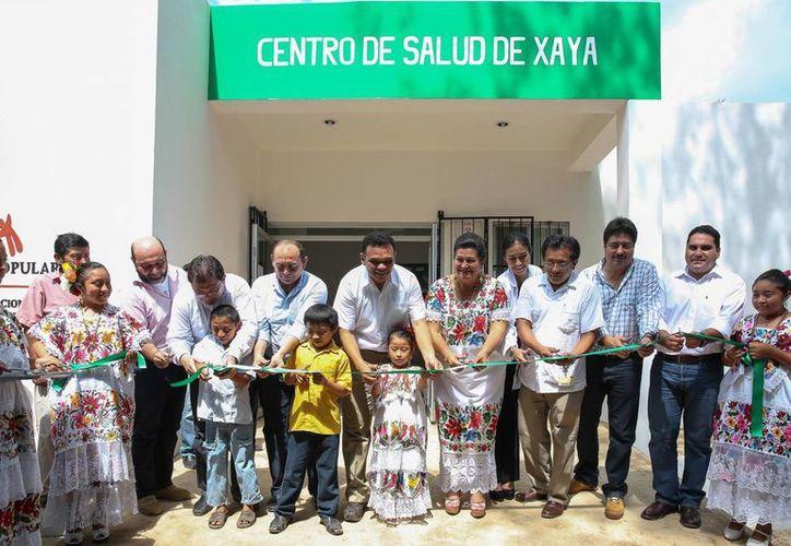 La inauguración del centro de salud de Xaya, municipio de Tekax. (SIPSE)