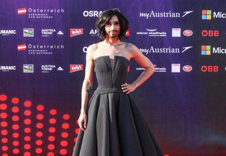 Conchita Wurst recién lanzó su primer disco, que ya se encuentra en los primeros niveles de popularidad en Europa. (eurovision.tv)