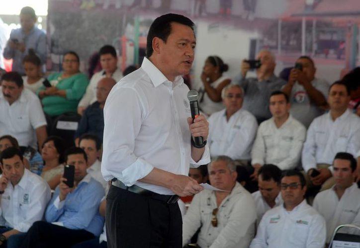 Osorio Chong destacó la presencia de las fuerzas federales en el estado de Tamaulipas. (Notimex)