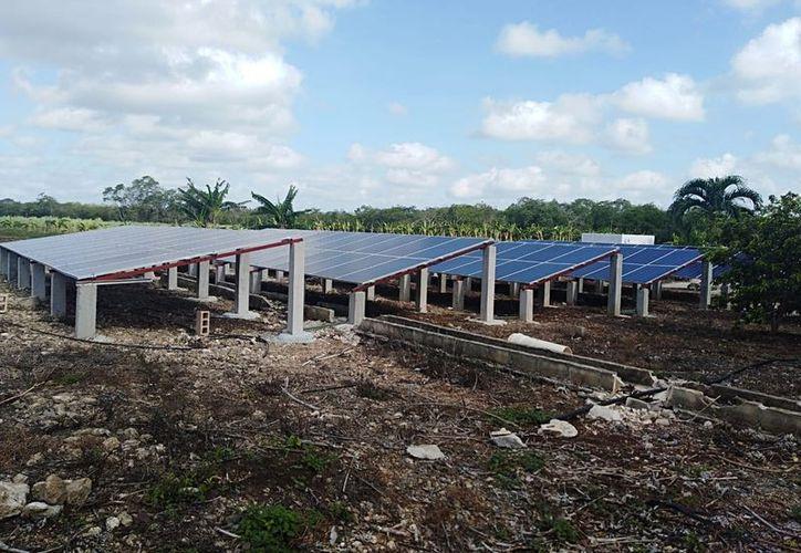 El proyecto de los paneles solares también incluye la perforación de un pozo profundo de 40 metros y la instalación de mil 169 metros de tubería principal de PVC. (Daniel Tejada/SIPSE)