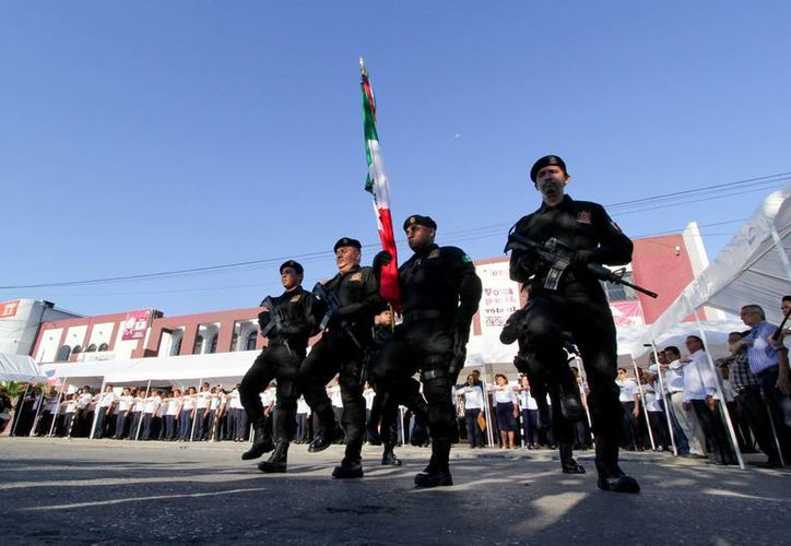 Ceremonia cívica en Campeche en el marco del inicio de las elecciones nacionales. En Campeche se elegirá un nuevo mandatario estatal. (Notimex)