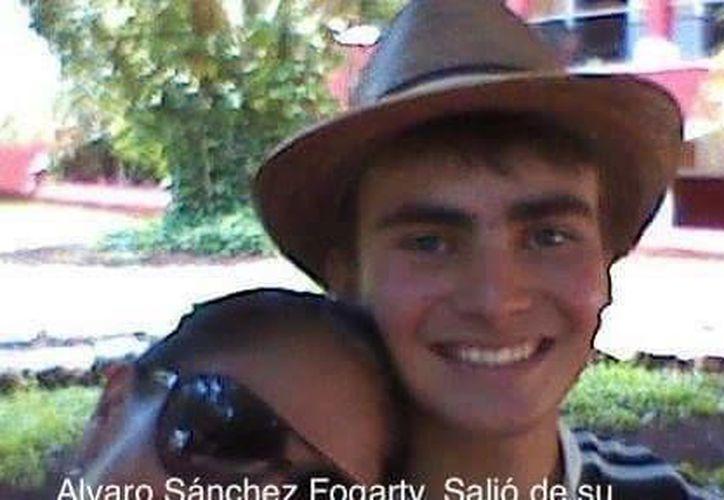 Aviso publicado en redes sociales, para pedir la ayuda de los ciudadanos y dar con el paradero de Álvaro Sánchez Fogarty. (Facebook)