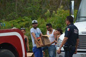 Ciudadanos ansiosos por rescatar cargamento de cerveza