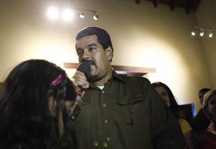 El candidato del chavismo a las elecciones presidenciales en Venezuela y presidente encargado del país, Nicolás Maduro. (EFE)