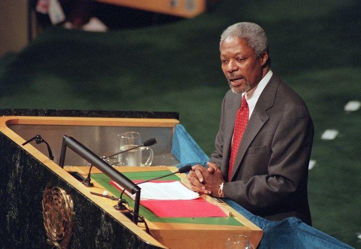 Kofi Annan falleció esta mañana, a los 80 años de edad. (AFP)