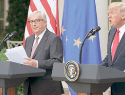 Trump and EU leaders pull back from trade war