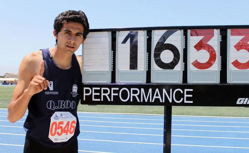 Alberto Álvarez Muños logró la marca de 16 metros con 33 centímetros. (Redacción/SIPSE)
