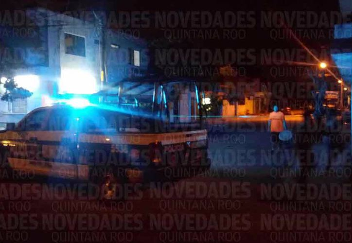 Policía Municipal se encargó de acordonar la zona. (Eric Galindo /SIPSE)