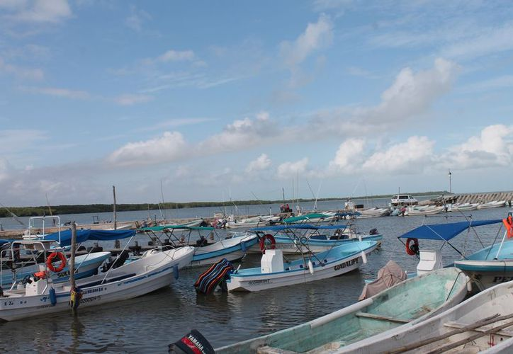 Afecta el mal tiempo la actividad pesquera en Holbox. (Raúl Balam/SIPSE)