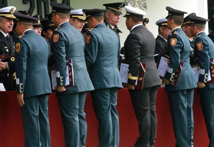 El secretario de la Defensa Nacional, Salvador Cienfuegos Zepeda, encabezó la ceremonia del retiro de generales y diversas distinciones. (Notimex/Foto de archivo)