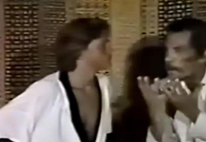 La escena que se viralizó muestra a Don Ramón regañando a Luis Miguel. (Impresión de pantalla)