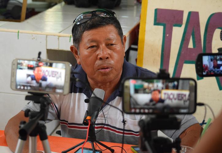 Graciano Cahuil externó que su separación debe ser pronunciada y juzgada por un comité de honor y justicia. (Gustavo Villegas/SIPSE)