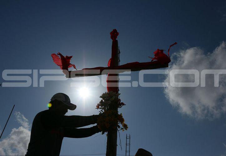 El Día de la Santa Cruz se festeja este 3 de mayo. (Fotografías: José Acosta/ Milenio Novedades)