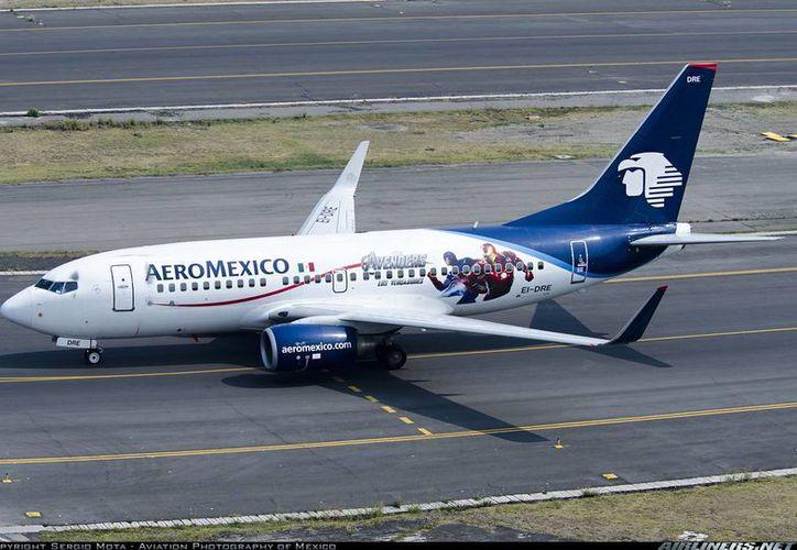 Son 26 los aviones de Aeromexico que fueron adaptados con equipo de monitoreo meteorológico. (Sergio Orozco/SIPSE)