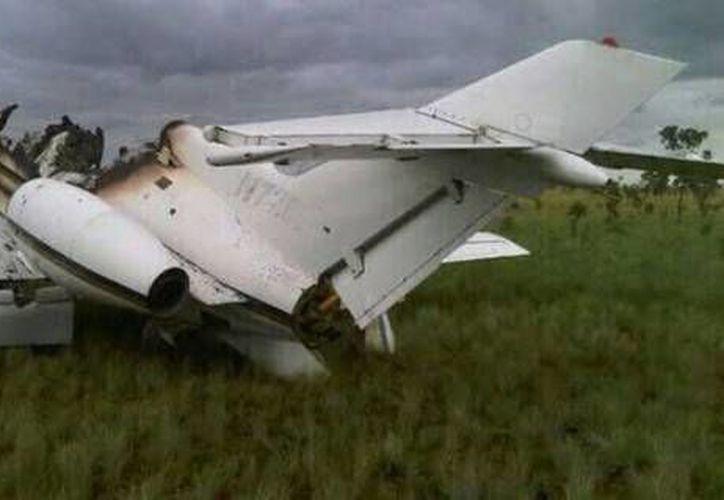 El avión que derribó en Venezuela el Comando Estratégico Operacional de la Fuerza Armada Nacional Bolivariana. (mdzol.com)