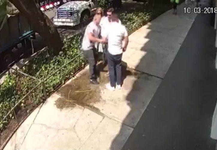 El asalto sucedió entre las calles de Isaac Newton y Aristóteles en Polanco, el pasado sábado 10 de marzo. (Foto: Captura de video)