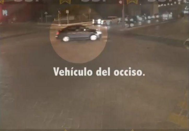 El vehículo del fallecido fue captado por cámaras de la SSP en su trayecto a Altabrisa. (Imágenes del video de la SSP)