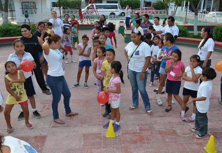 Las Ludotecas Móviles tienen como objetivo fortalecer el desarrollo integral de los menores a través del juego. (Redacción/SIPSE)