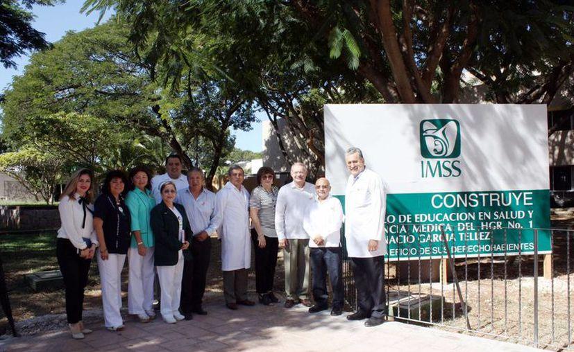 Los trabajos de construcción fueron oficialmente puestos en marcha ante la presencia del delegado estatal del IMSS, especialista Jorge Herberto Méndez Vales, e integrantes del H. Consejo Consultivo. (Milenio Novedades)