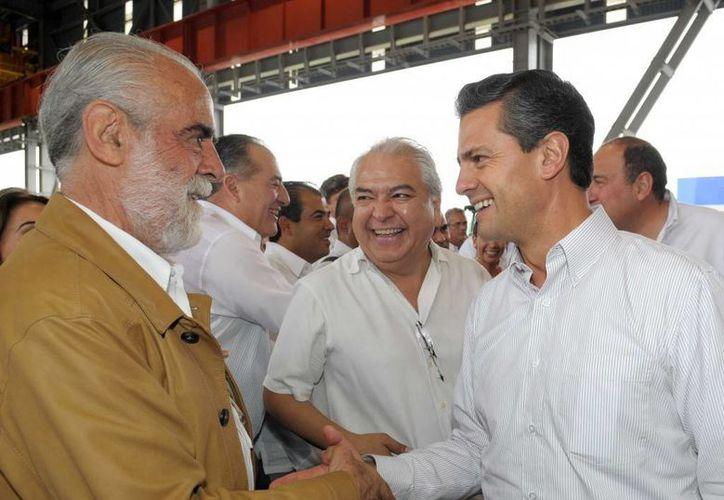 El excandidato presidencial durante la presentación del Proyecto Fénix en Monclova con Enrique Peña Nieto. (presidencia.gob.mx)