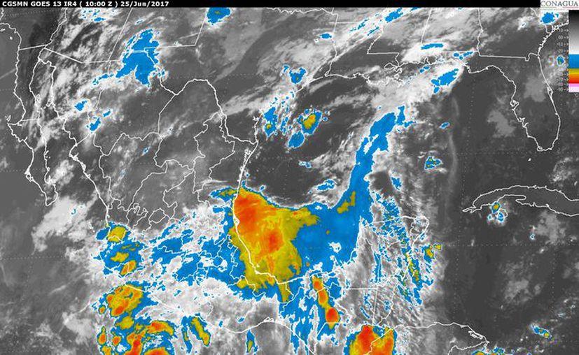 Se prevé un cielo prácticamente cubierto. (Imagen de satélite).