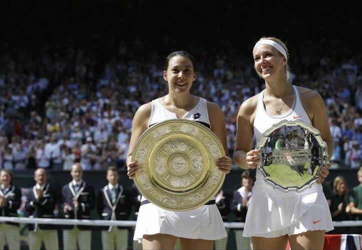 La campeona y la subcampeona de Wimbledon. Ni Lisicki ni Bartoli habían llegado nunca siquiera a semifinales. (Agencias)