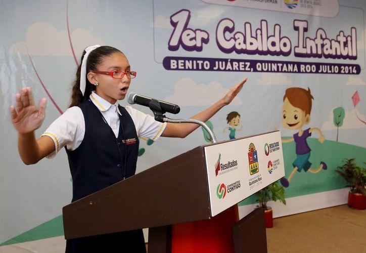 Preparan un precabildeo con los menores y finalizarán con una sesión de Cabildo. (Sergio Orozco/SIPSE)